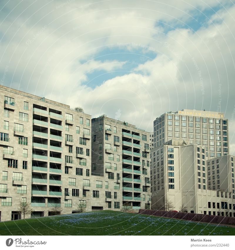 City Berlin Architecture Modern High-rise Gloomy Downtown Downtown Berlin Capital city Prefab construction House (Residential Structure) Populated New building Europe Potsdamer Platz Modern architecture