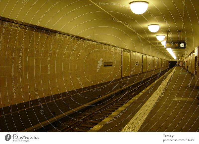 Transport Railroad tracks Tunnel Underground Commuter trains Platform
