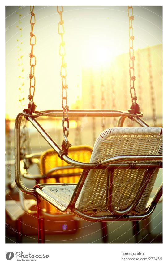 hype Joy Oktoberfest Chairoplane Carousel Theme-park rides Fairs & Carnivals Sit Multicoloured Exterior shot Evening Reflection Sunlight Sunbeam Back-light