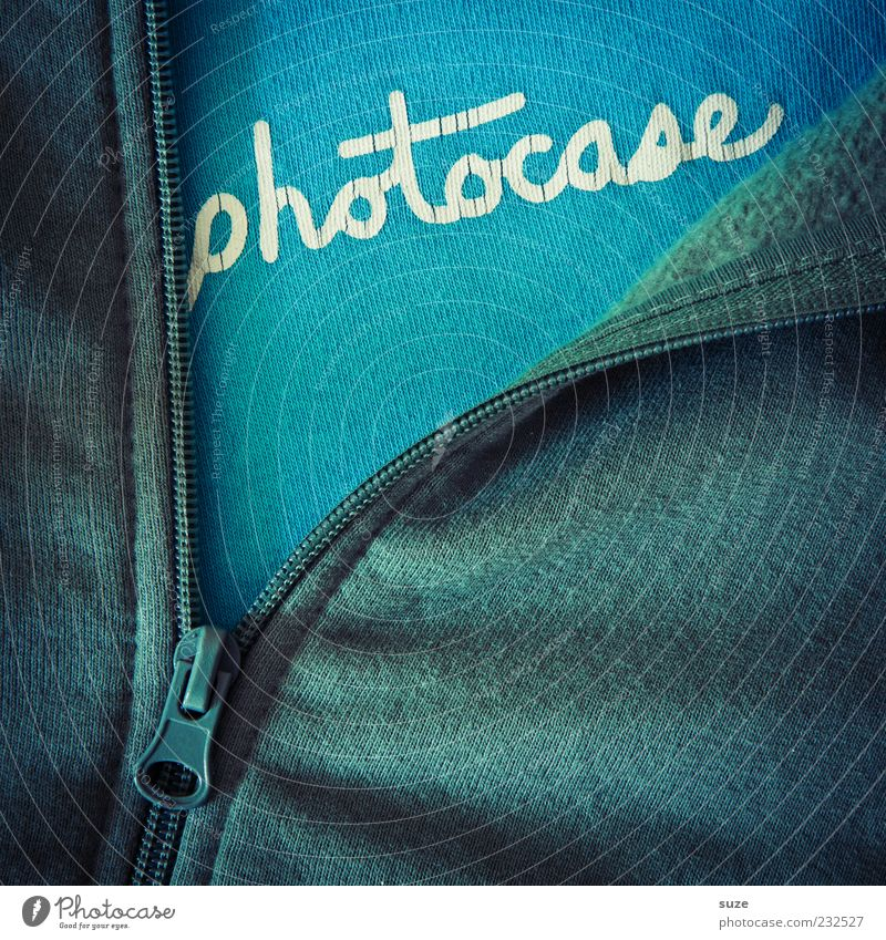 Blue Green Funny Characters Clothing Creativity Wrinkles Idea Jacket Typography Crack & Rip & Tear Sweater Textiles Close Logo