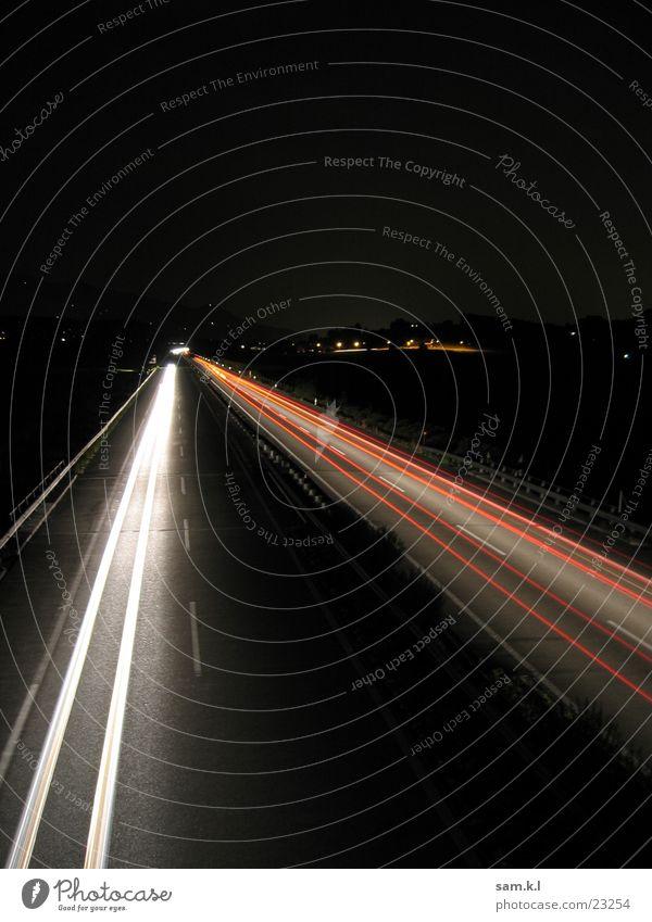 moving lights 2 Long exposure Highway Transport Street