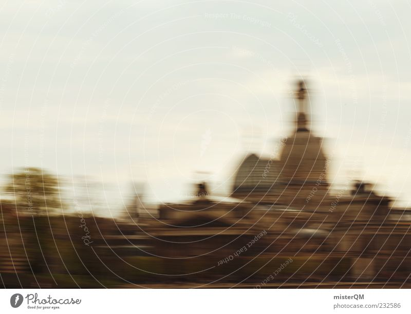Dresden - wipe and gone I Religion and faith World heritage Roof Speed Motion blur Capital city Culture Manmade landscape Cultural center Lure of the big city