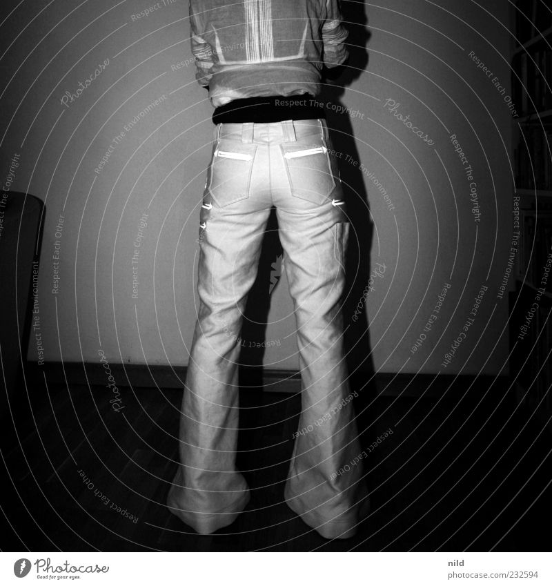 Perfection and functionality (rear view) Craftsperson Assistant Human being Feminine Young woman Youth (Young adults) 1 Fashion Workwear Pants Beautiful Thin