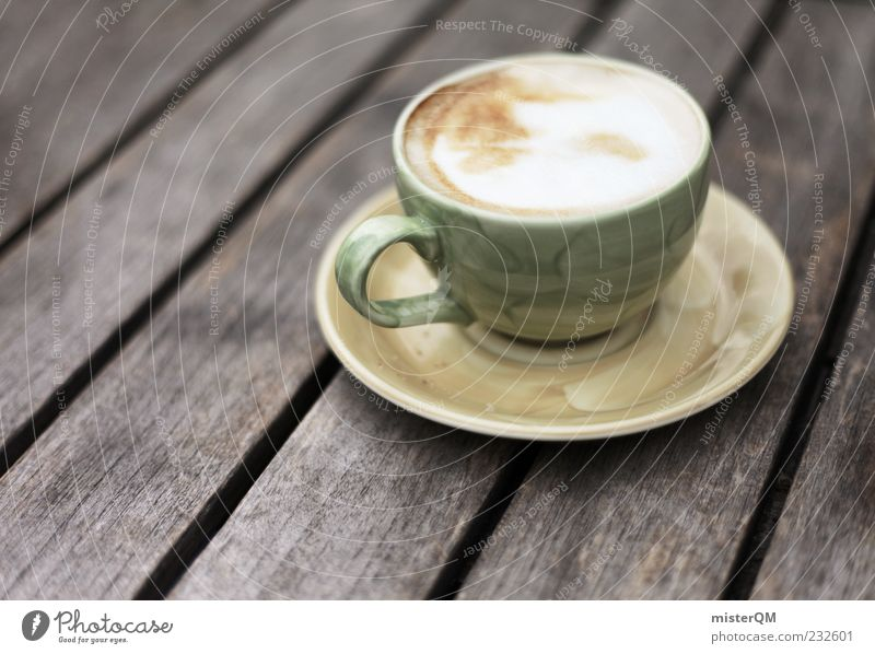 Calm Relaxation Food Esthetic Table Beverage Break Coffee Cup To enjoy Foam Addiction Remote Photos of everyday life Wooden table Coffee cup