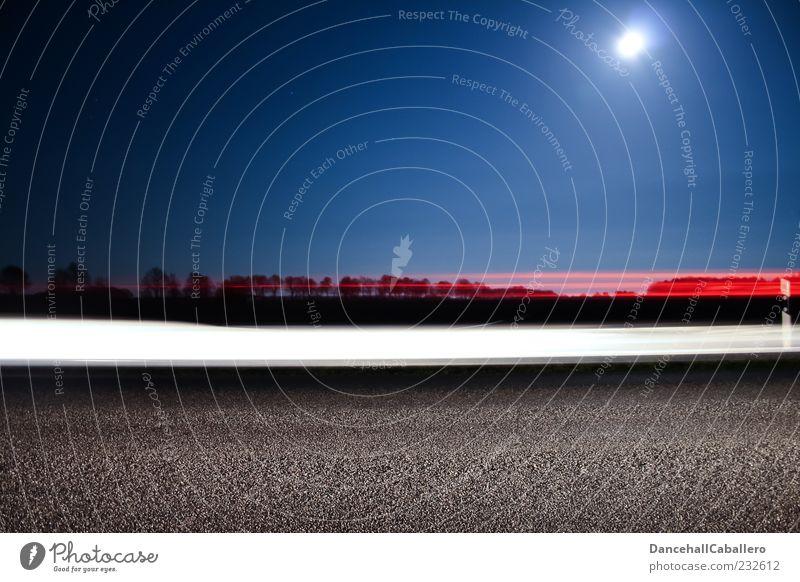 Blue White Red Black Street Car Transport Speed Illuminate Driving Asphalt Tracks Mobility Moon Dynamics Floodlight