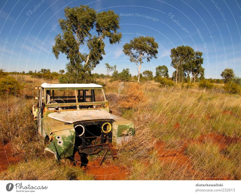 Vacation & Travel Old Car Broken Change End Rust Vehicle Motoring Australia Outback Wrecked car Driving