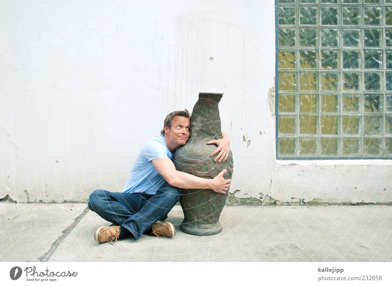 Human being Man Adults Feminine Life Couple Friendship Funny Sit Large Exceptional Decoration Broken Whimsical Trashy Strange