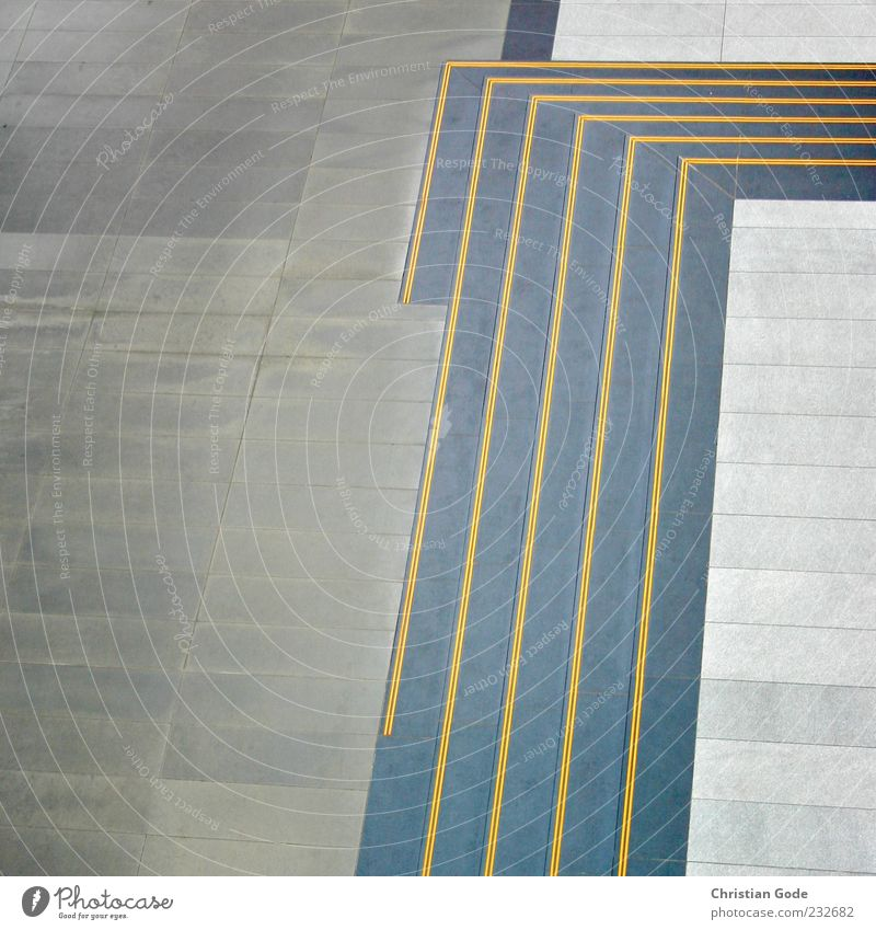 Yellow Architecture Gray Background picture Arrangement Places Stairs Corner Point Leipzig Terrace Copy Space Lanes & trails Marketplace Graphic Direct