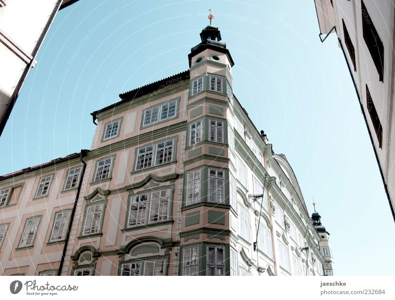 Prague Spring III Czech Republic Europe Capital city Downtown Old town House (Residential Structure) Architecture Facade Historic Gothic period Street corner