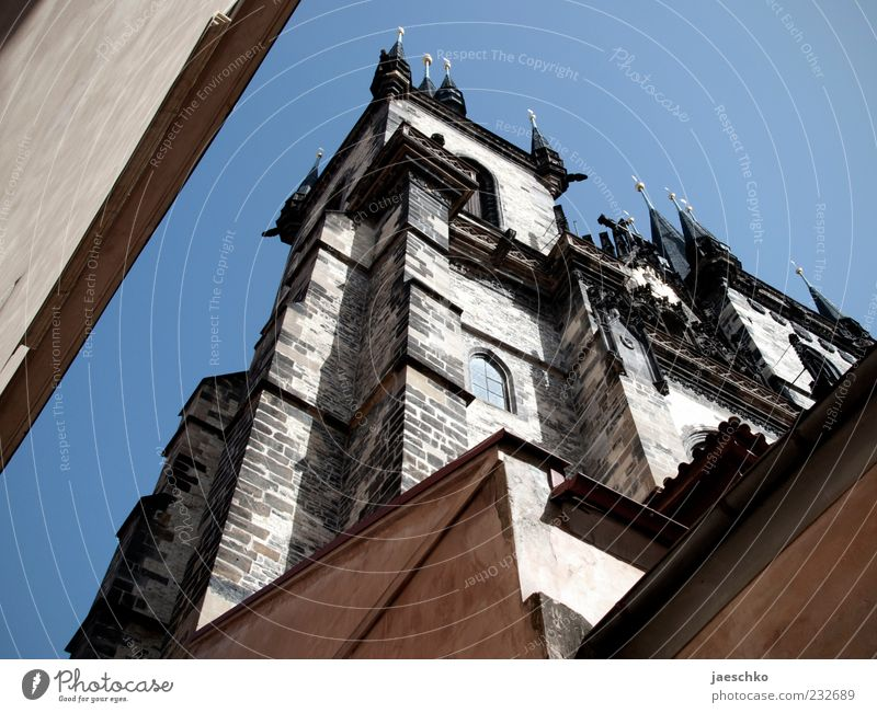 Prague Spring IV Czech Republic Capital city Downtown Old town Church Tower Manmade structures Architecture Tourist Attraction Landmark Teyn Church Large