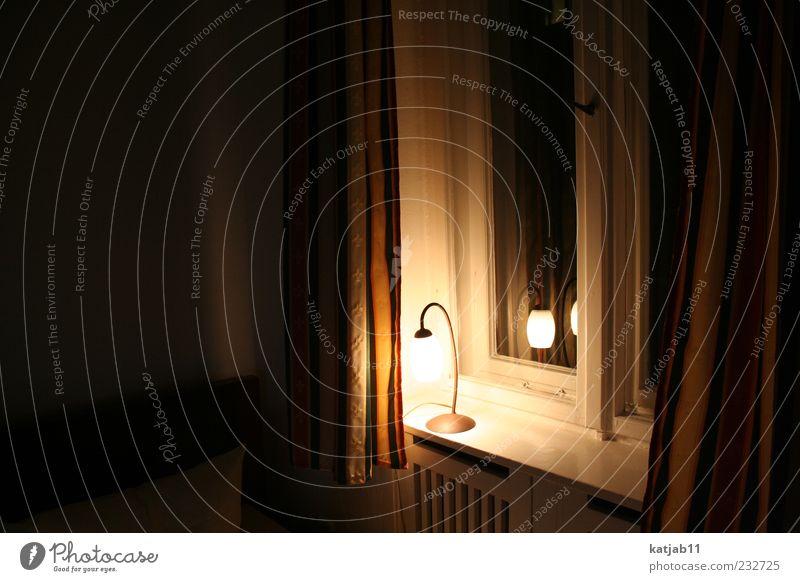 Calm Dark Window Lamp Room Flat (apartment) Decoration Illuminate Drape Window board