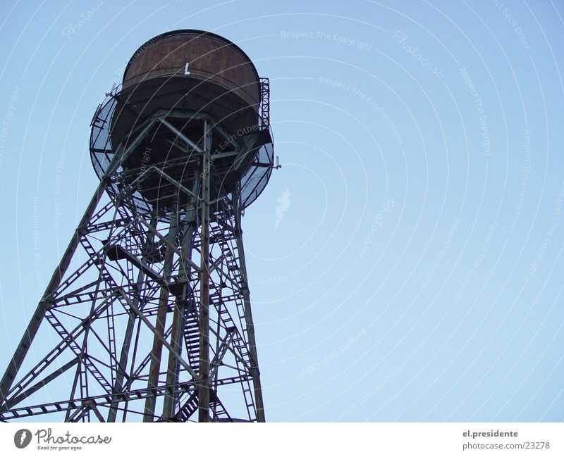 Water Sky Perspective Industry Tower Steel Rust The Ruhr Bochum Water tower