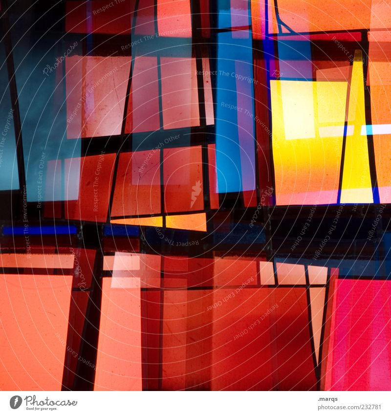 Colour Style Line Art Background picture Glass Design Modern Exceptional Decoration Illuminate Uniqueness Chaos Hip & trendy Double exposure Surrealism