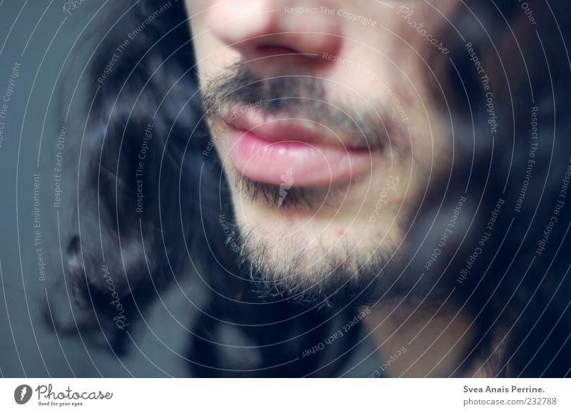 more than. Masculine Head Nose Mouth Lips Facial hair 1 Human being 18 - 30 years Youth (Young adults) Adults Hair and hairstyles Black-haired Long-haired Curl