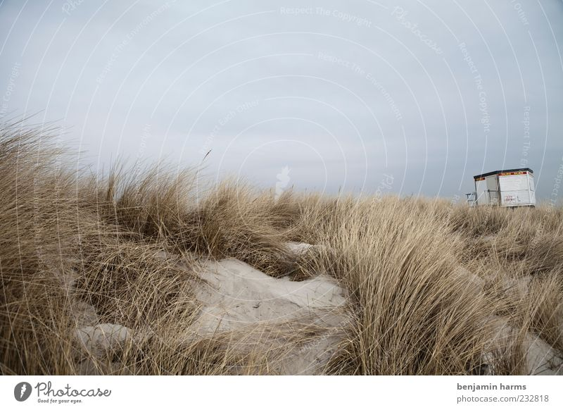 Sky Nature Ocean Beach Clouds Calm Landscape Sand Coast Gloomy Dune Baltic Sea Bad weather Hunting Blind Deserted Bay watch
