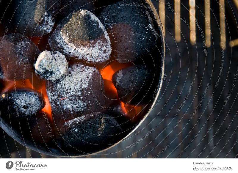 preheating Barbecue (event) Fire Beautiful weather Barbecue (apparatus) Embers Charcoal Observe Wait Hot Red Anticipation Patient Energy Multicoloured