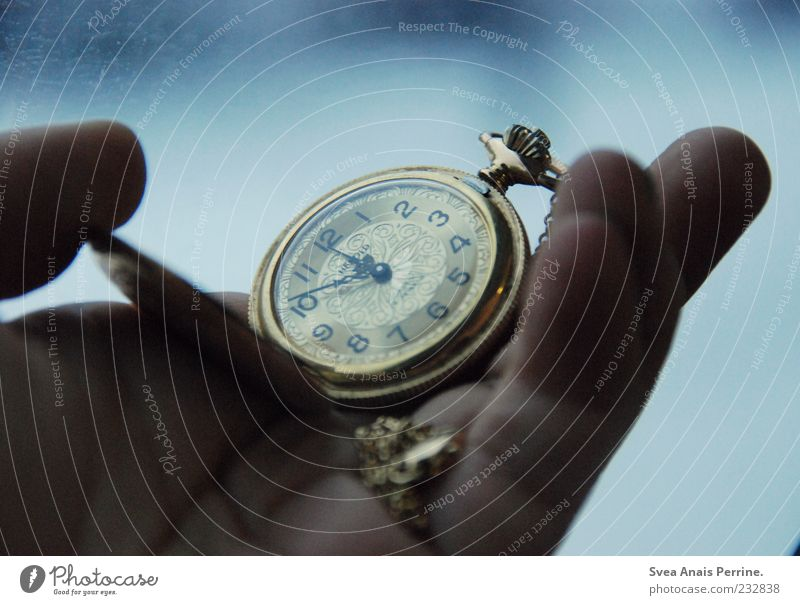 Human being Hand Cold Emotions Moody Time Elegant Gold Clock Exceptional Fingers Retro To hold on Clock face Clock hand Collector's item