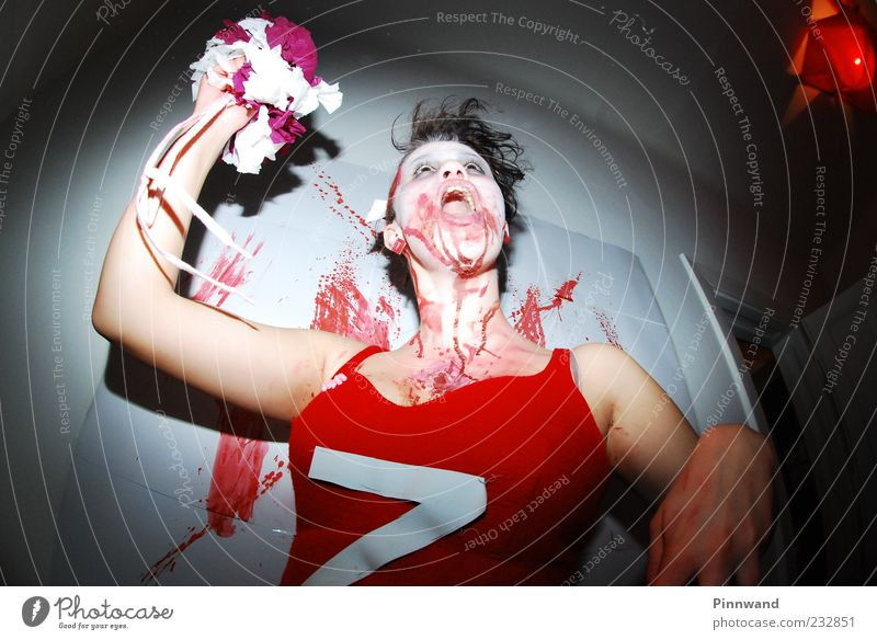 bloody partyIV Red Flower Death Jump Fear Dance Crazy Dangerous Dress Anger Force Pain Media Scream Trashy Bouquet