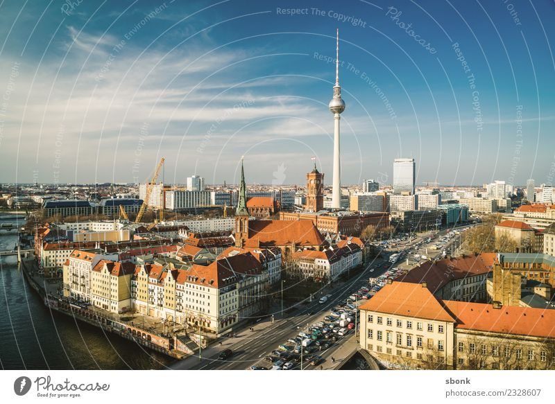 Vacation & Travel Town Berlin Germany Skyline Berlin TV Tower City