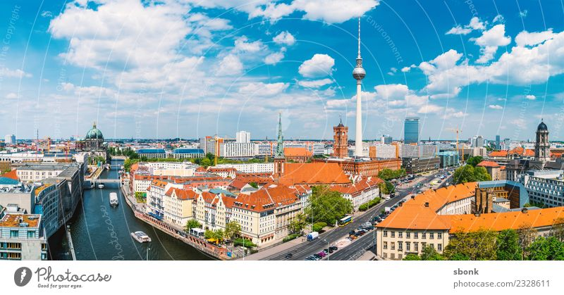 Berlin Summer Panorama Vacation & Travel Berlin TV Tower Town Capital city Skyline Building Architecture Tourist Attraction Landmark Germany City urban