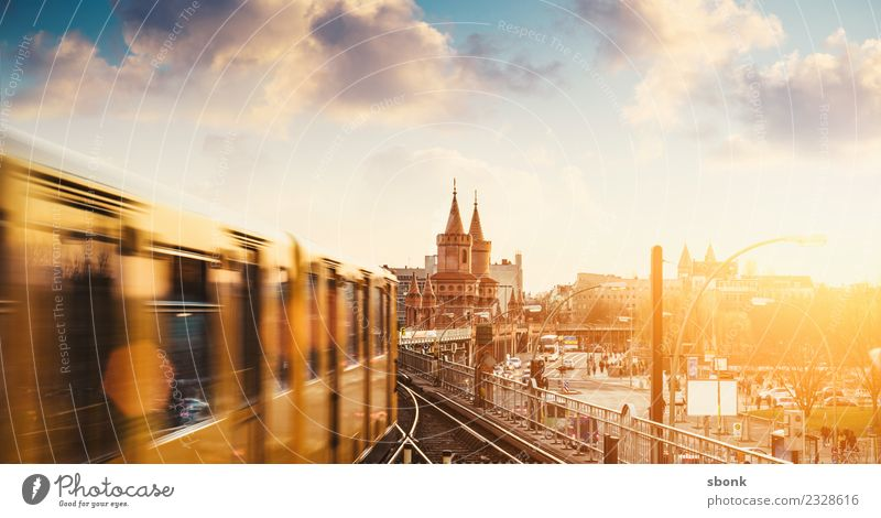 Vacation & Travel Architecture Movement Berlin Building Germany Bridge Railroad Tourist Attraction Manmade structures Skyline Capital city Downtown Underground