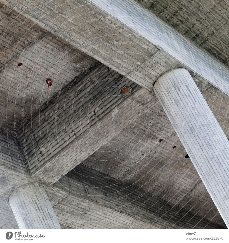 Old Dark Above Architecture Gray Line Modern Fresh Authentic Bridge Safety Stripe Gloomy Simple Pure Dry