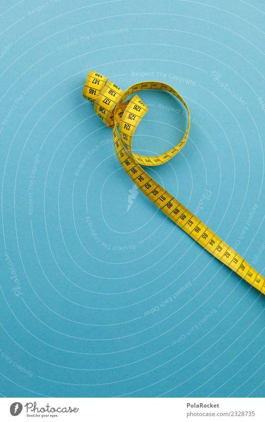 #AS# measurable Art Esthetic Blue Yellow Unit of measurement Scale Tape measure Centimeter Diet Weight problems Colour photo Multicoloured Interior shot