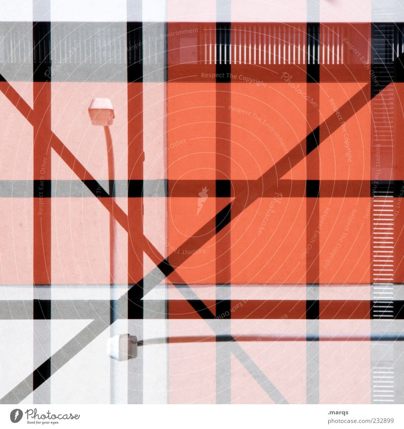 Red Colour Black Architecture Gray Building Style Line Background picture Facade Design Exceptional Lifestyle Stripe Lantern Street lighting