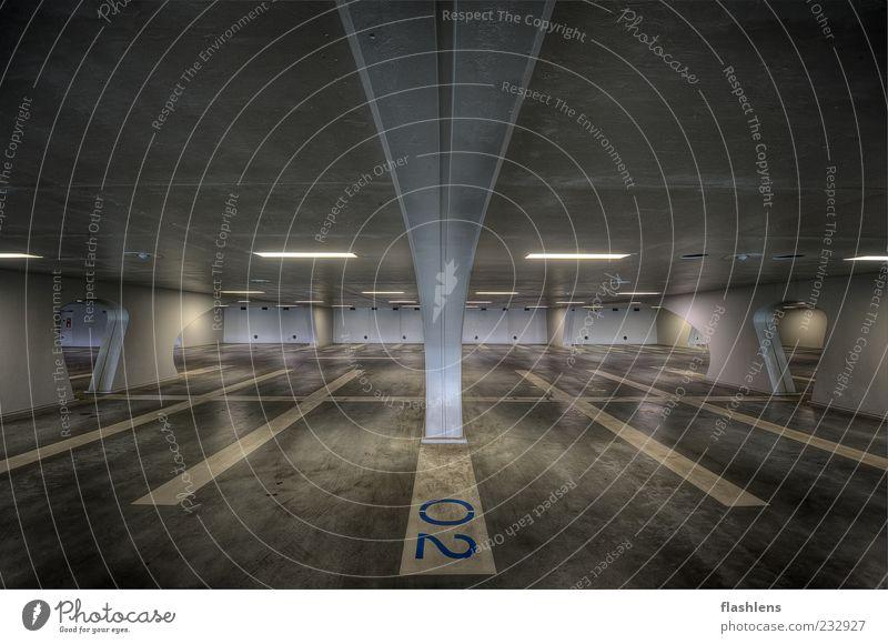 White Loneliness Architecture Gray 2 Gloomy Garage Parking garage 0 Building Underground garage Marker line