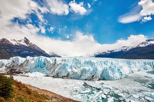 Perito Moreno Glacier, Argentina. Sky Nature Vacation & Travel Landscape Far-off places Mountain Cold Snow Tourism Trip Hiking Vantage point Adventure
