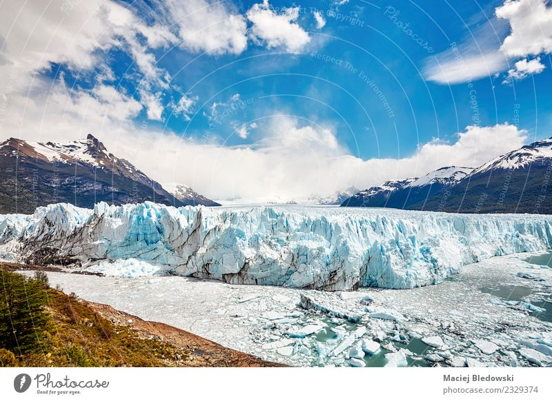 Perito Moreno Glacier, Argentina. Vacation & Travel Tourism Trip Adventure Far-off places Expedition Snow Mountain Hiking Nature Landscape Sky Climate change