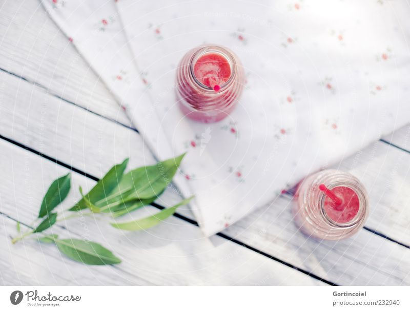 White Green Red Leaf Food Beverage Bottle Twig Cocktail Blade of grass Juice Straw Tablecloth Table Summery Cold drink