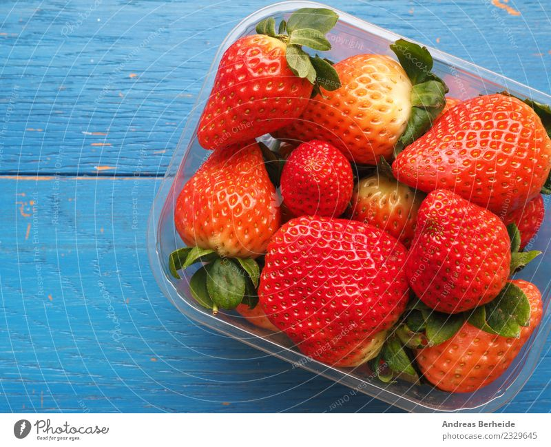 Fresh organic strawberries Food Fruit Nutrition Organic produce Delicious Sweet Blue Red berry mix Mixed nutritious pile preserved Snack tasty vegetarian