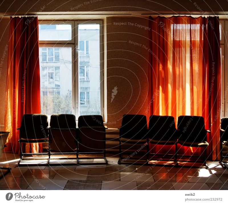 Blue White Red Window Black Wall (building) Car Window Wall (barrier) Room Illuminate Sit Wait Tall Simple Floor covering Chair