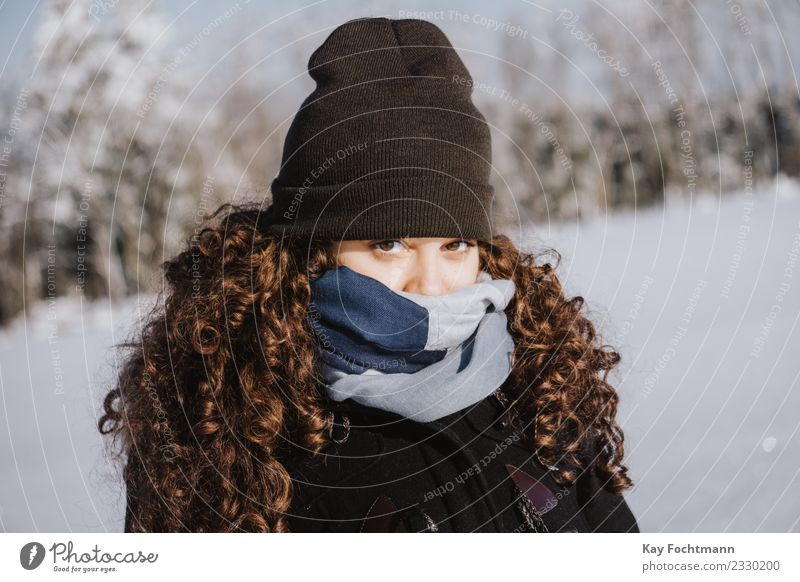 Human being Nature Vacation & Travel Youth (Young adults) Young woman Landscape Calm Winter Forest 18 - 30 years Eyes Adults Life Lifestyle Environment Cold