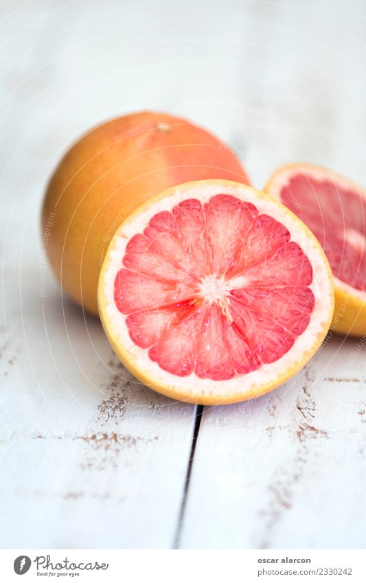 Grapefruit on old wood Food Fruit Dessert Nutrition Breakfast Lunch Dinner Vegetarian diet Diet Juice Lifestyle Healthy Health care Wellness Old To feed Feeding