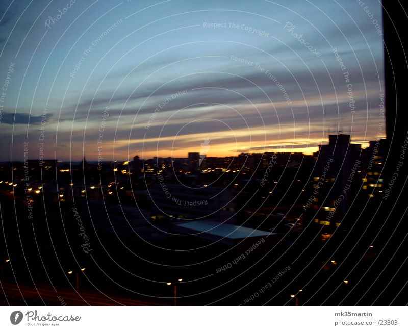 Evening Prague II Sunset Clouds Light Europe