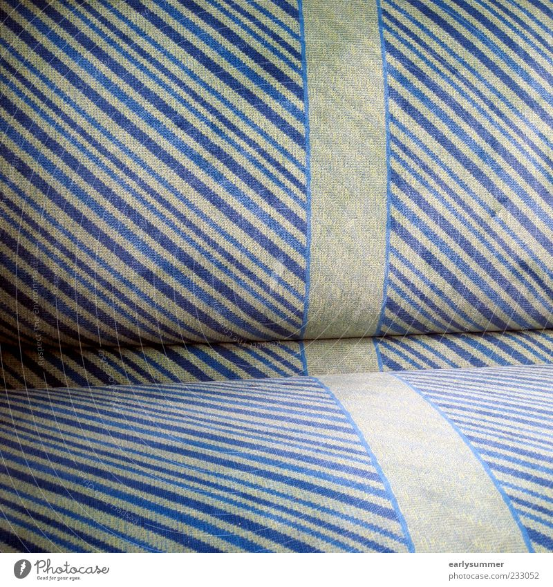 Old Blue Green Line Sit Design Railroad Stripe Seating Striped Means of transport Tram Bolster Public transit Train compartment Shadow