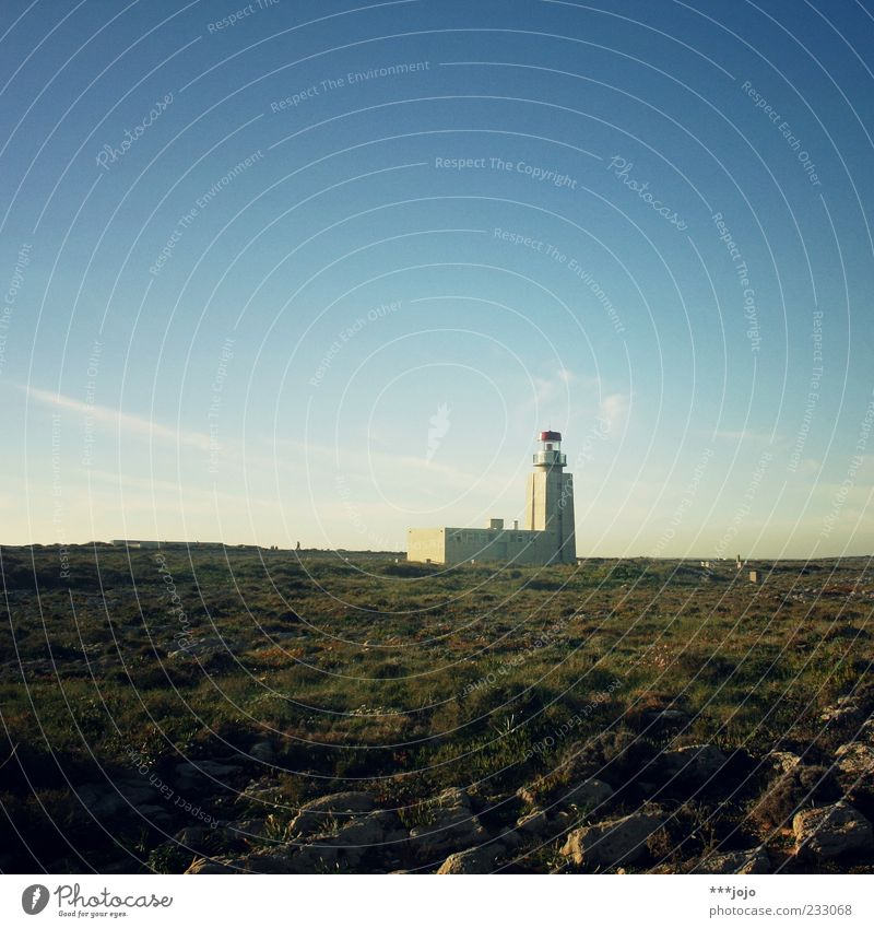 Sky Nature Vacation & Travel Ocean Loneliness Far-off places Landscape Architecture Stone Coast Building Horizon Rock Illuminate Tower Dry