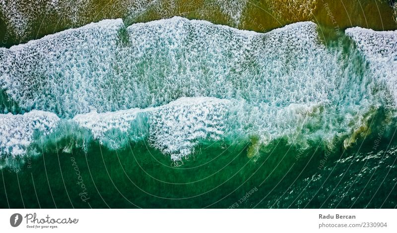 Aerial View From Flying Drone Of Ocean Waves Environment Nature Landscape Water Coast Beach Bay Island Exceptional Far-off places Beautiful Wet Natural Above