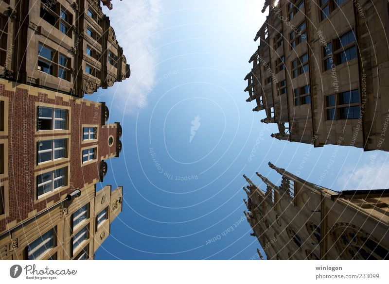 look up Old Blue City Summer Vacation & Travel House (Residential Structure) Street Window Freedom Architecture Building Art Germany Facade Trip
