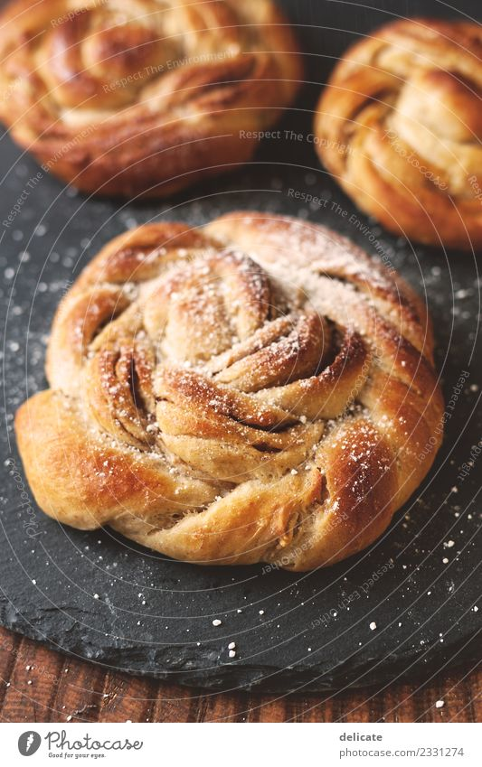 Cinnamon snail VII Food Grain Dough Baked goods Croissant Cake Candy Baking Bakery Slate Nutrition Eating Breakfast To have a coffee Dinner Buffet Brunch