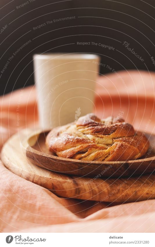Cinnamon snail I Food Grain Dough Baked goods Croissant Cake Candy Nutrition Eating Breakfast Lunch To have a coffee Buffet Brunch Beverage Milk Hot Chocolate