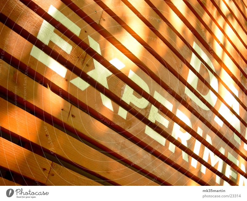 Line Architecture Crazy Facade Characters Stripe Wooden board