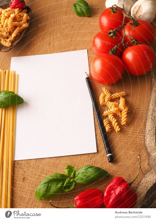 Background for pasta recipes Food Vegetable Italian Food Healthy Delicious Background picture basil bare Chili conceptual cook cooking empty fresh garlic green