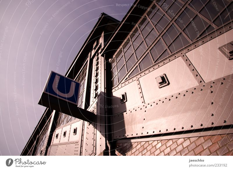 City Architecture Line Signs and labeling Transport Characters Hamburg Threat Sign Historic Brick Underground Train station Surrealism Passenger traffic Industrial