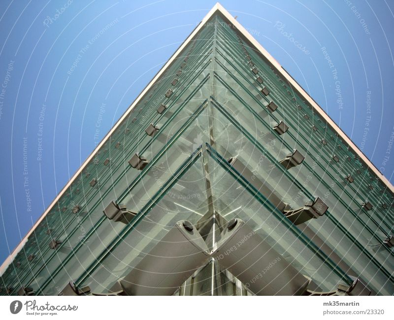 glass façade Facade Building House (Residential Structure) Venetian blinds Architecture Glass Corner