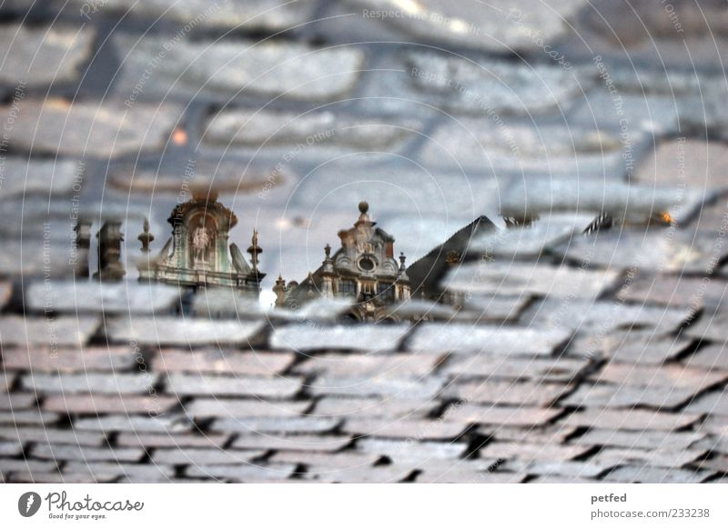 Old City Water House (Residential Structure) Street Architecture Art Roof Culture Historic Manmade structures Cobblestones Tourist Attraction Old town Puddle Old building