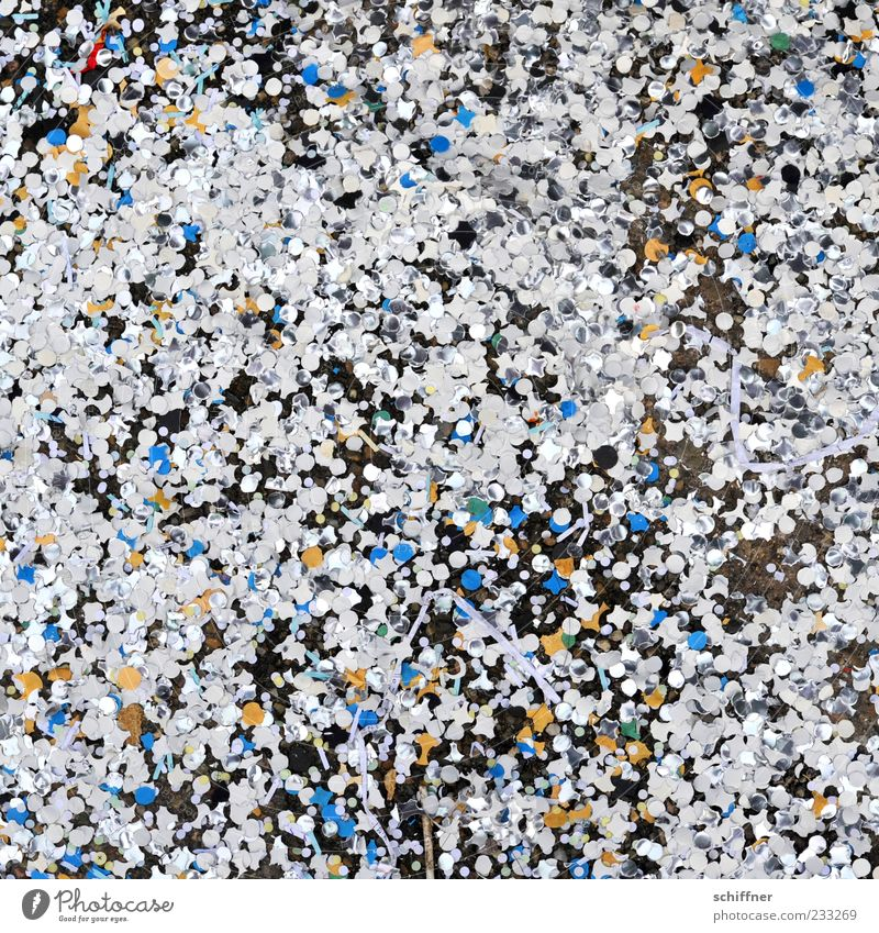 Blue White Joy Feasts & Celebrations Background picture Glittering Happiness Paper Many Trash Carnival Muddled Silver Copy Space Remainder Confetti