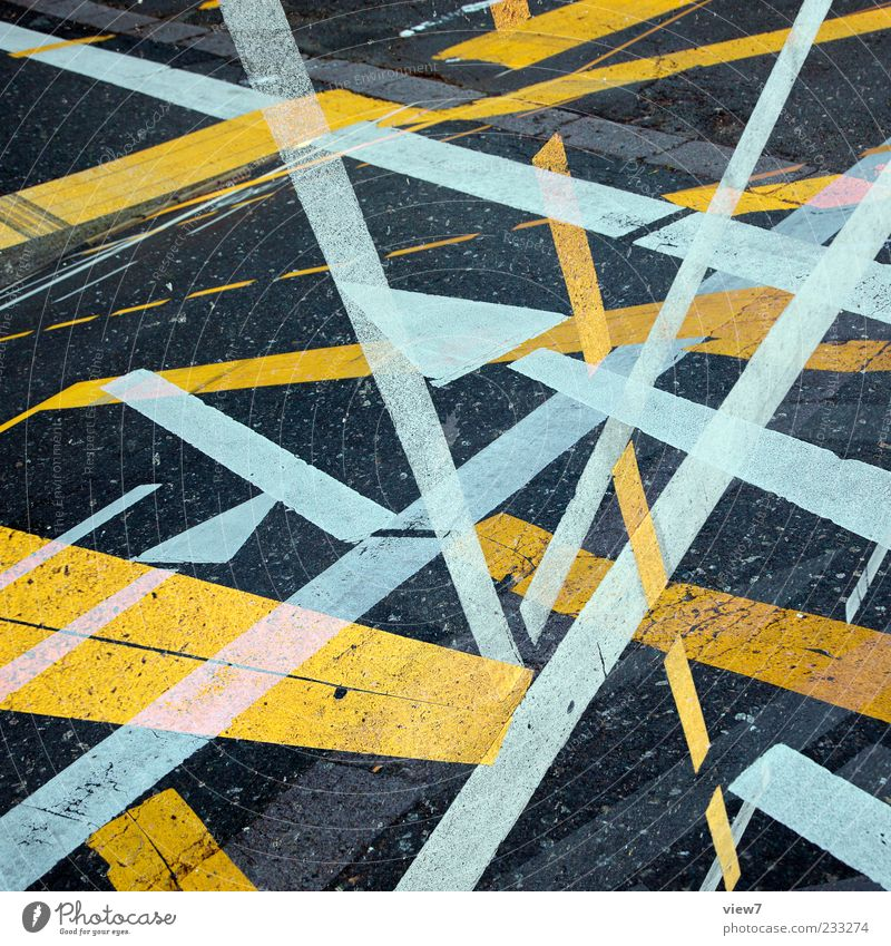 Old White Yellow Street Lanes & trails Stone Line Signs and labeling Design Transport Modern Esthetic Authentic Stripe Uniqueness Simple